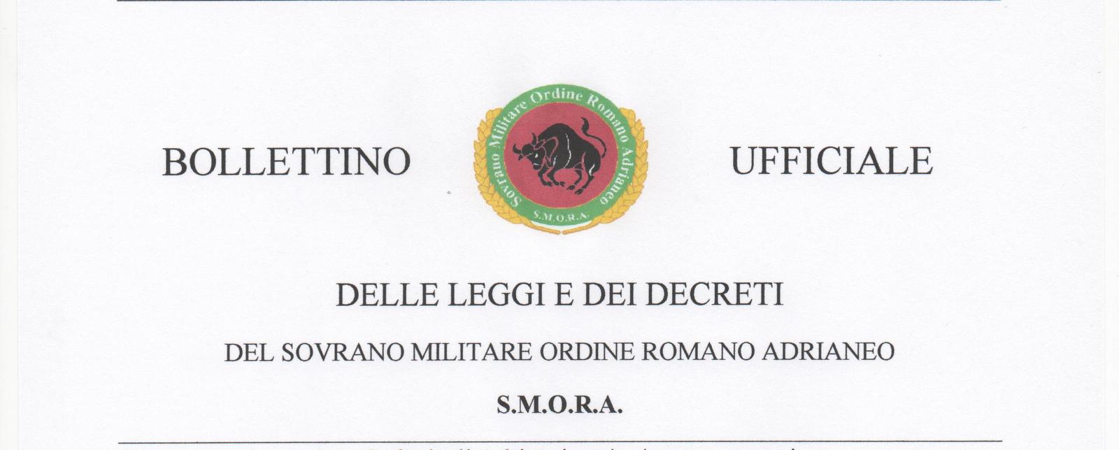 SOVRANO MILITARE ORDINE ROMANO ADRIANEO