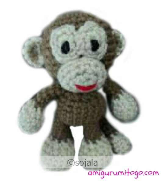 Monkey Free Crochet Pattern ~ Amigurumi To Go