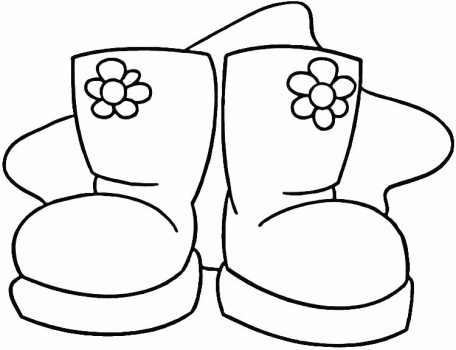 Boot Coloring Page