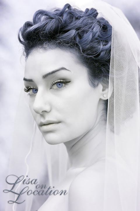 bridal portrait, infrared