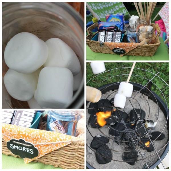 smores station, smores bar, smores for camping, marshmallow desserts