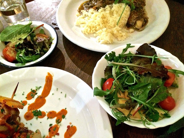 main meals and salads at Carioca Brixton