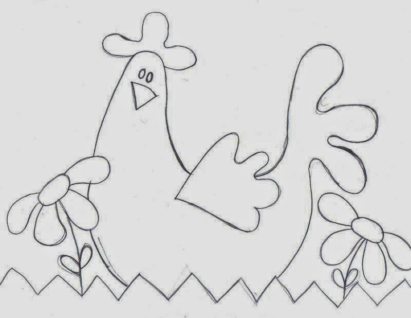 23 Riscos para patchwork de galinhas