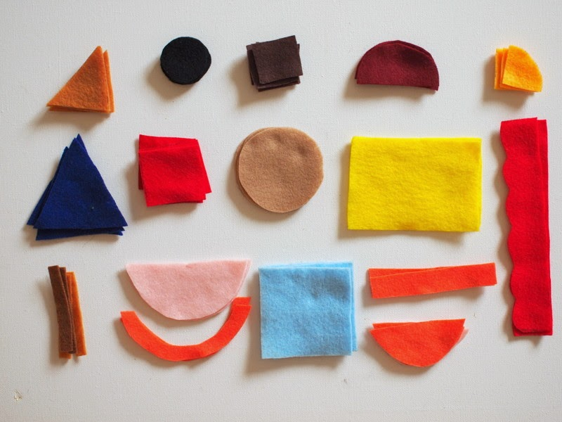 cut out various felt shapes