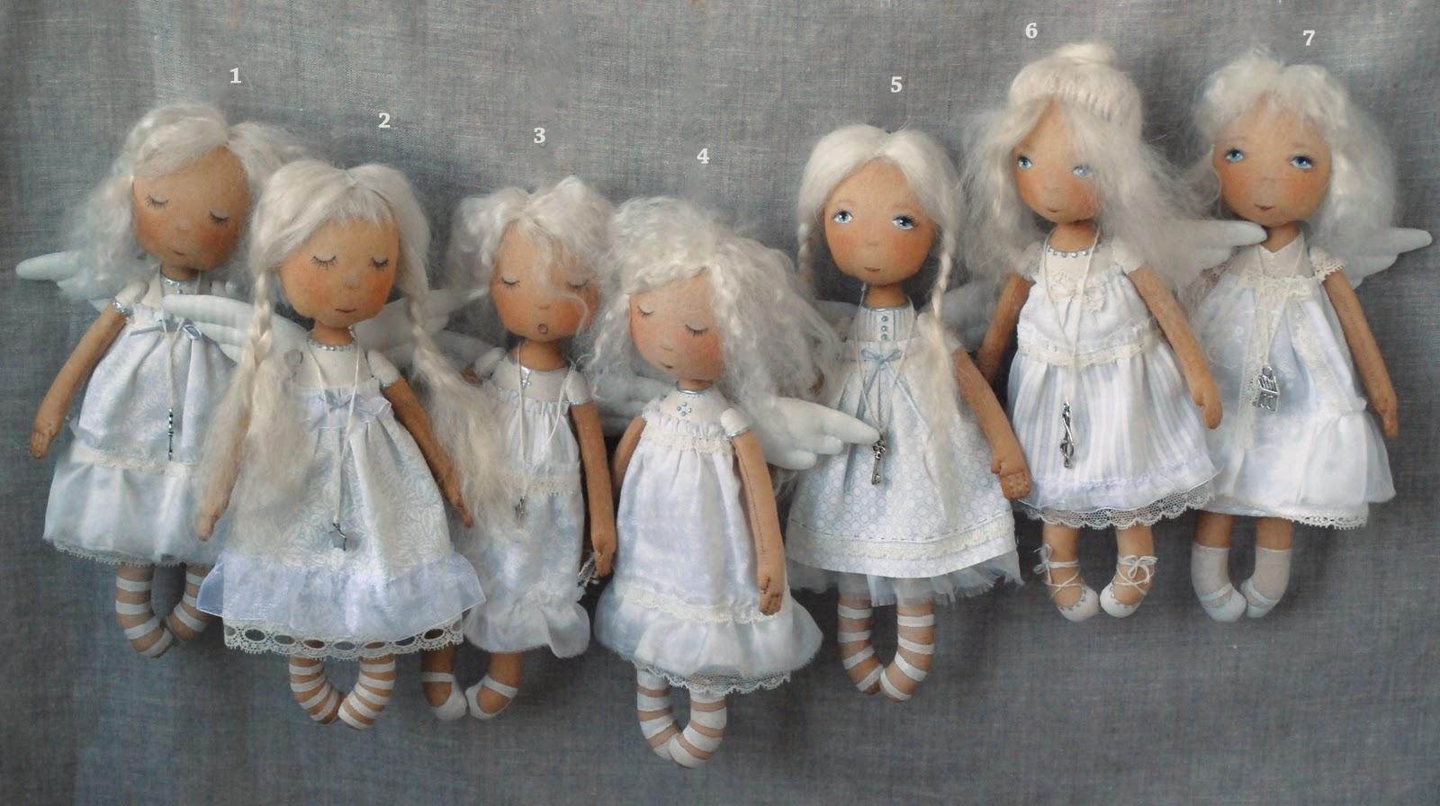 Авторская кукла ангел своими руками 56