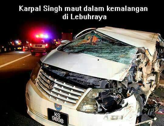 [3 Gambar] Karpal Singh & Pembantu Maut Kemalangan di Gua Tempurung