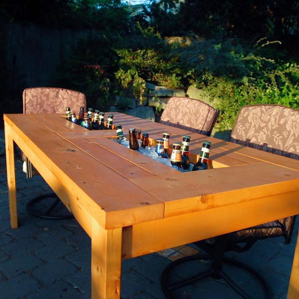 Mesa de cervezas