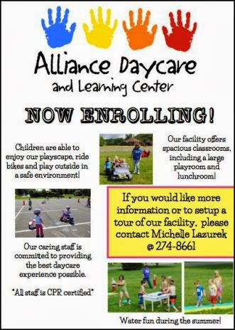Alliance Day Care Now Enrolling