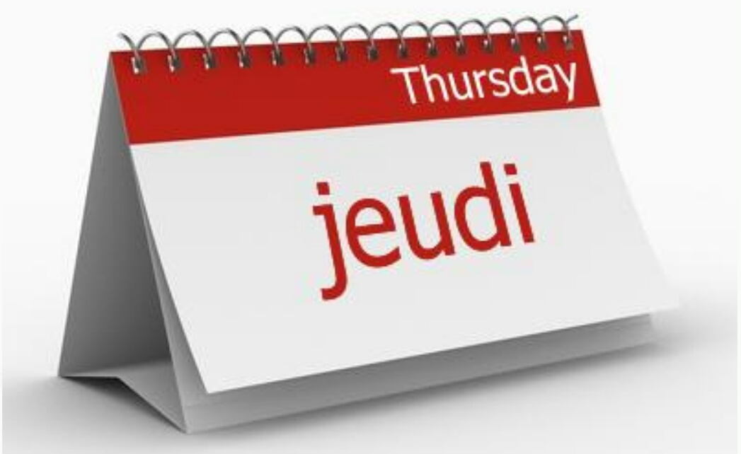 how to say thursday in french