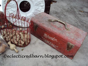 Eclectic Red Barn: Dollar garage sale toolbox