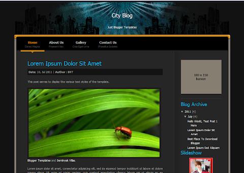 City Blog Blogger Theme