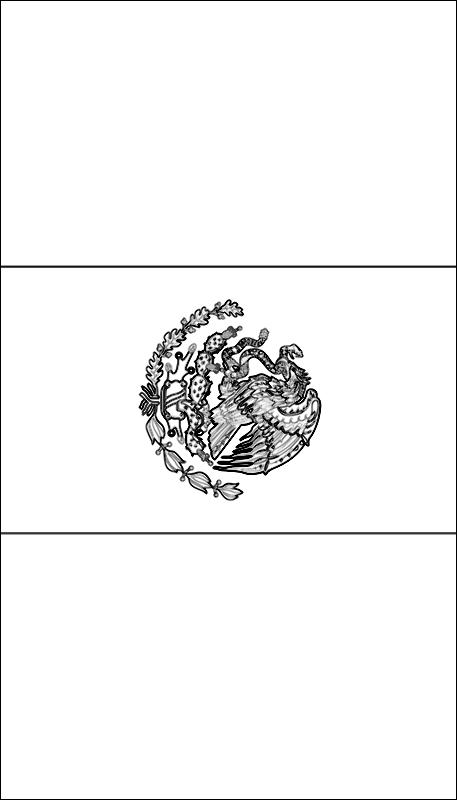 colorear bandera de Mexico para imprimir
