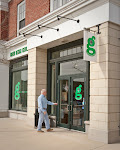 Man entering &#39;g&#39; showroom