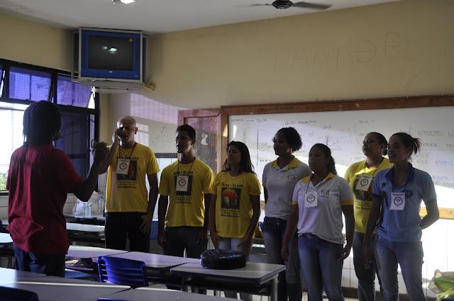 Estudantes participam de oficinas e atividades voltadas para o Novembro Negro. (Foto: Emerson Santos)