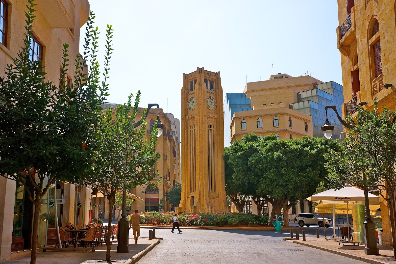 Picture of Place de l'Etoile and the clock tower in Beirut, Lebanon.