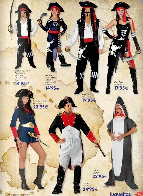 Disfraces de Piratas por 14.95€ Carnaval 2015