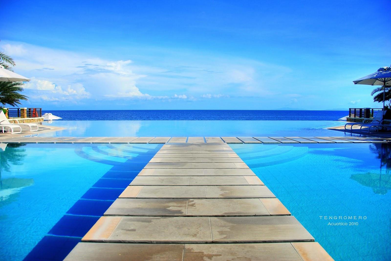 Tengturista acuatico the best infinity pool in laiya for Infinity pool