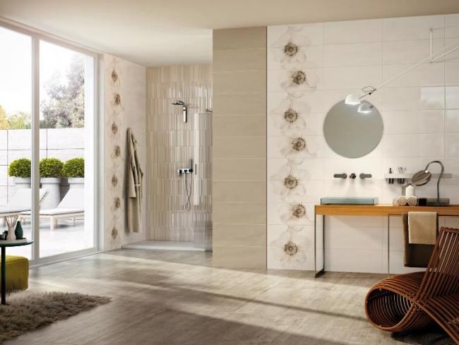 Baños Beige Con Blanco:de baño en color beige Hermoso diseño acogedor y elegante con