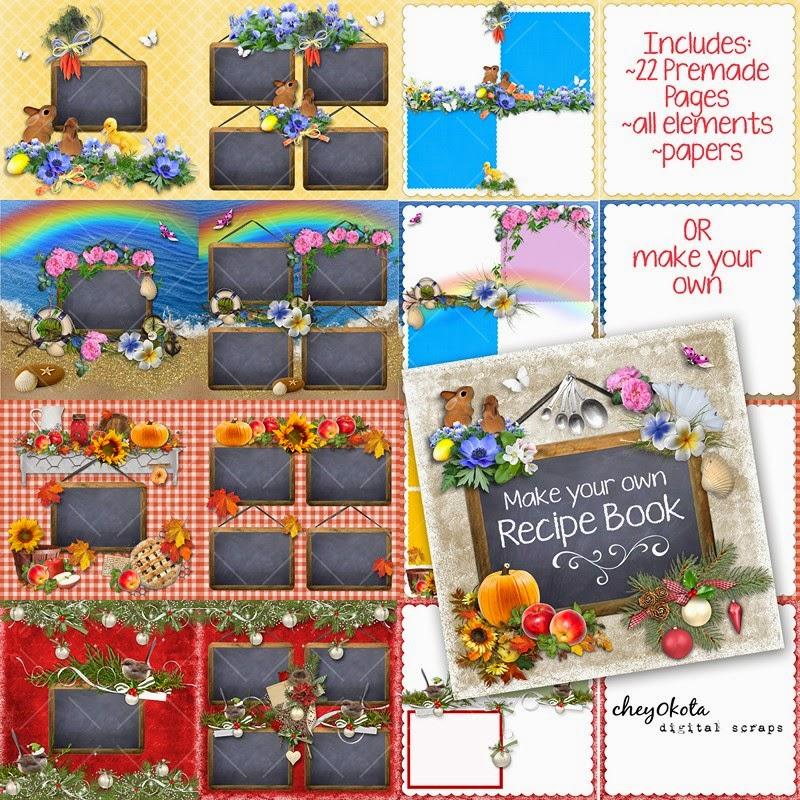 cheyokota digital scraps coming soon make your own recipe book