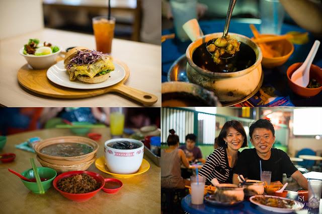 Voici mes amis Julia et Billy, nous avons goûté plein de choses assez  étranges tel que : de la grenouille (en haut à droite), de la tortue et du  poulet noir ...