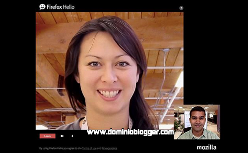 Envia mensajes de voz y de videos gratis con Firefox Hello