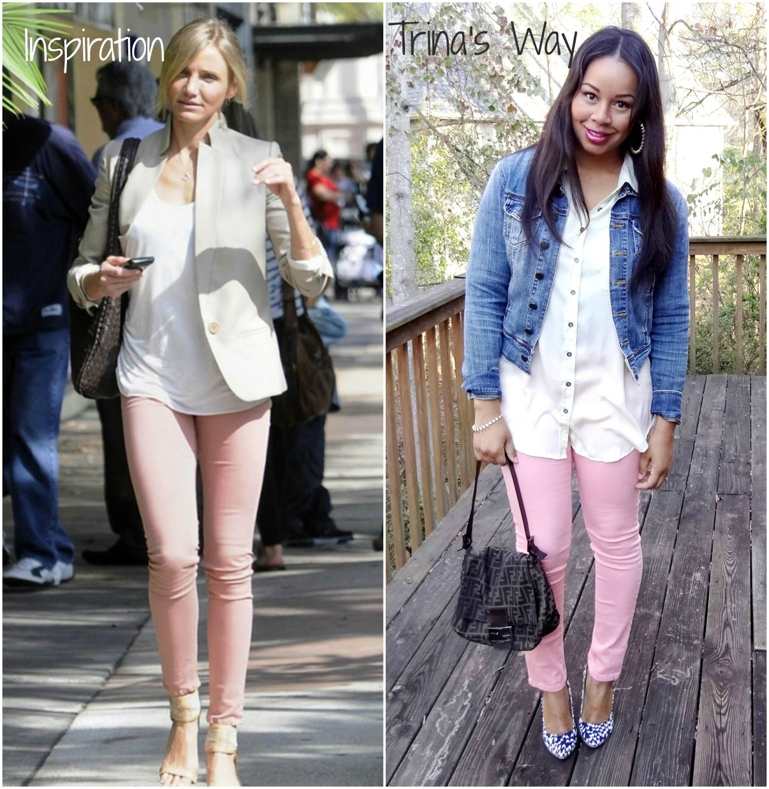 Style Me Friday: Pink Jeans