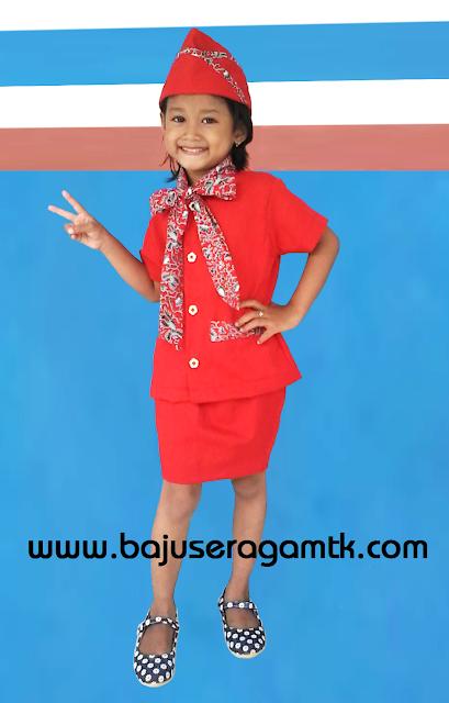 seragam tk baju profesi anak pramugari