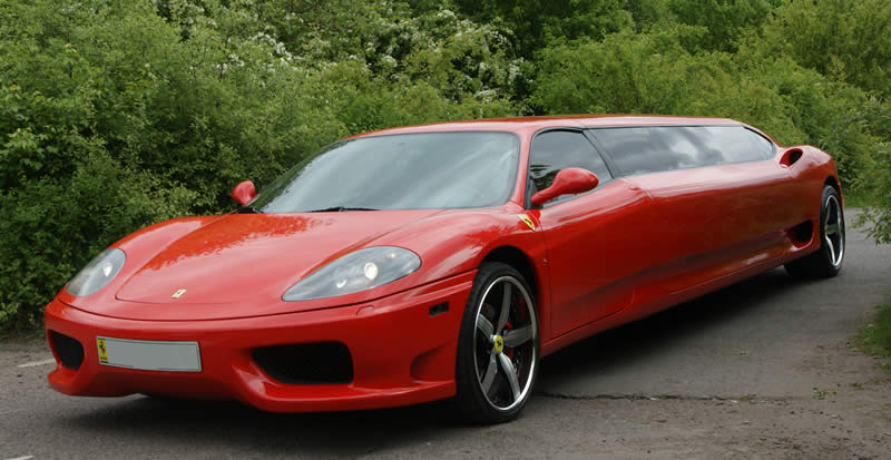 Modified Cars Red Ferrari Lemo