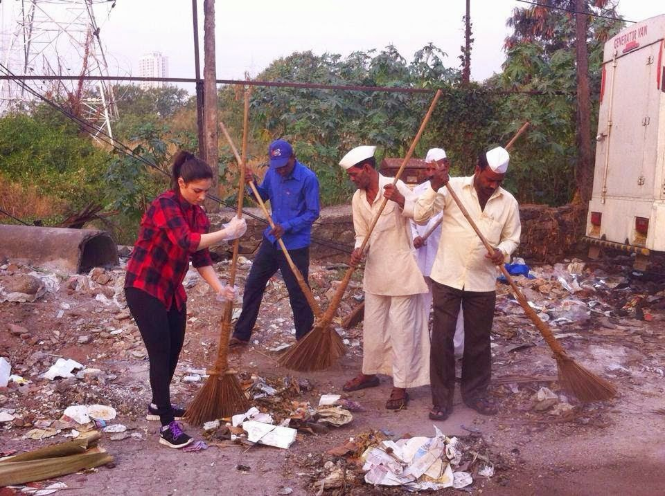 Tamanna Swatch bharath Program Photos