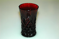 Royal Ruby Pineapple Glass
