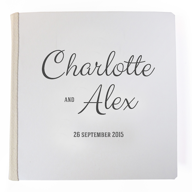 Personalised wedding guestbook