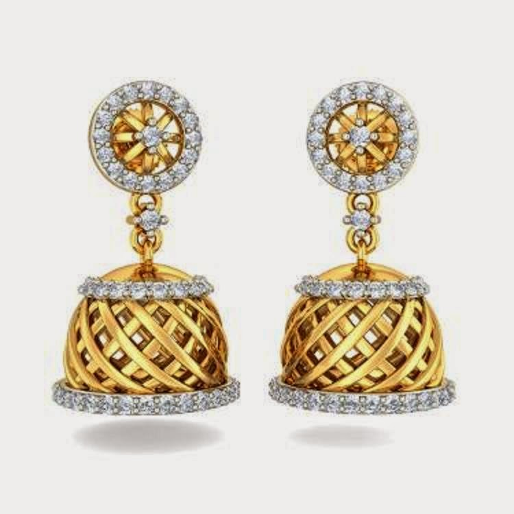 Latest jhumka earrings designs ~ beautify themselves with earrings