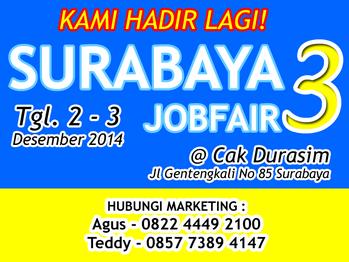 Bursa Kerja SURABAYA JOB FAIR Desember Terbaru 2014