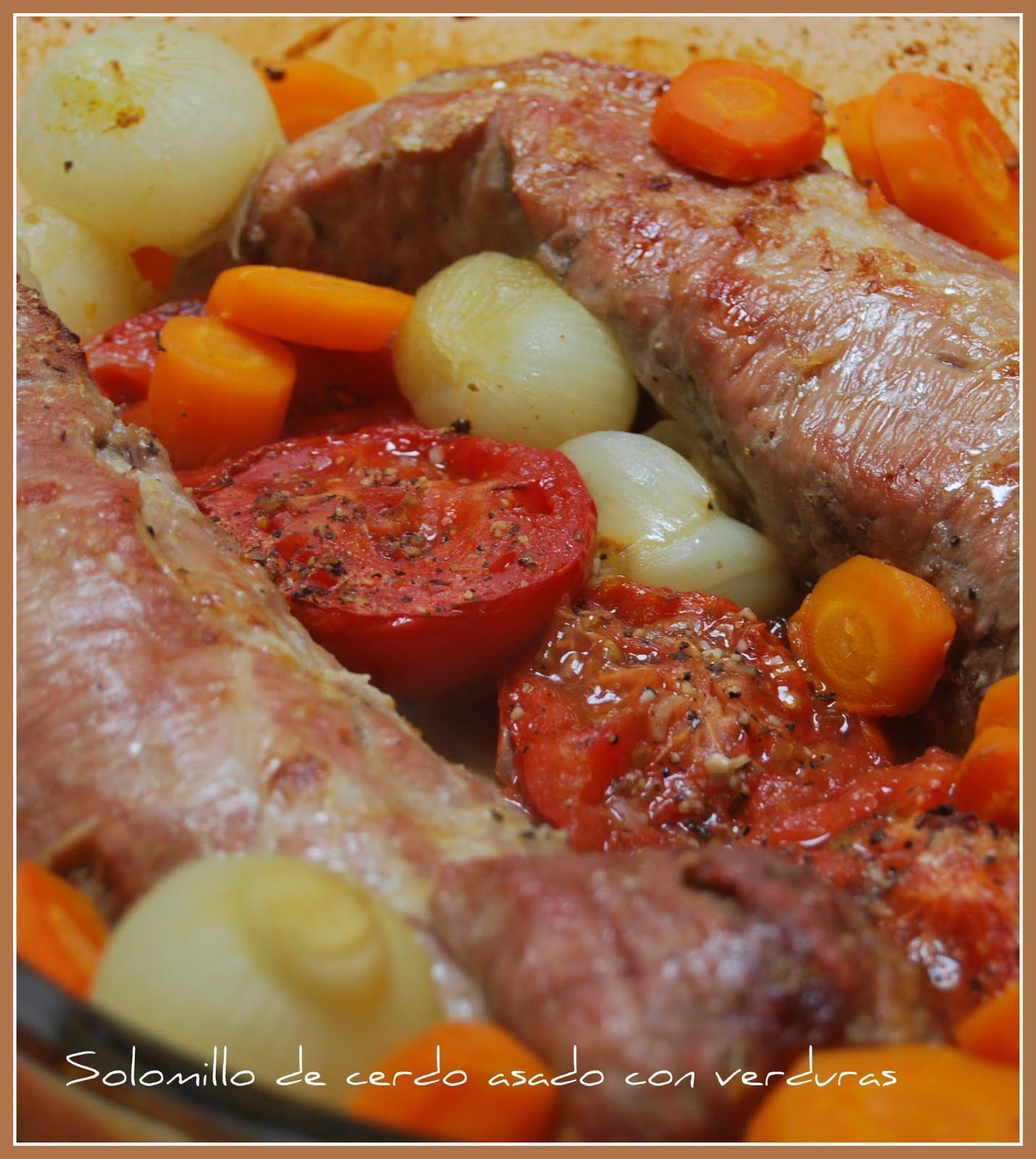 Ligero Y Rico Asado De Solomillo De Cerdo Con Verduras