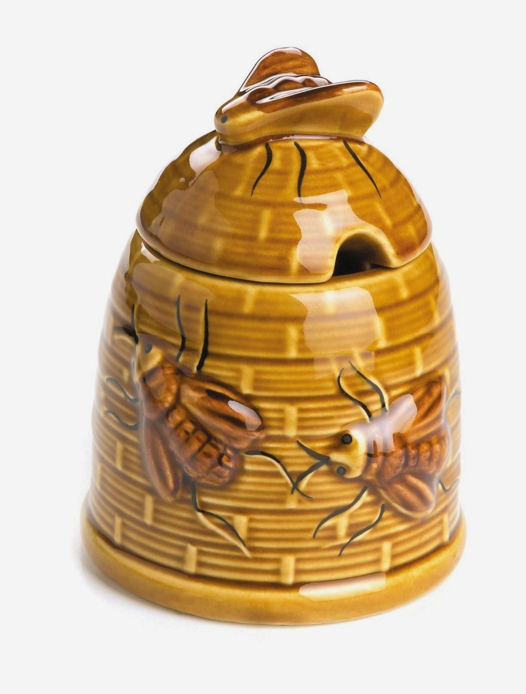 Baby Bees House Ceramic Honey Pots