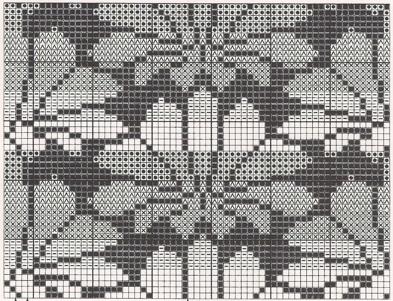 Вязание орнаментов с цветами 83