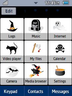 General Halloween 1 Samsung Corby 2 Theme Menu