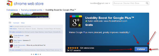 Mejorando Google Plus 3