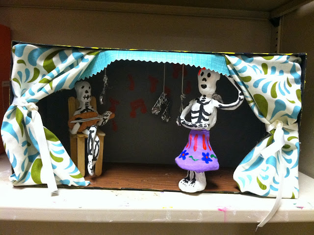Middle School Day of the Dead Diorama Art Lesson