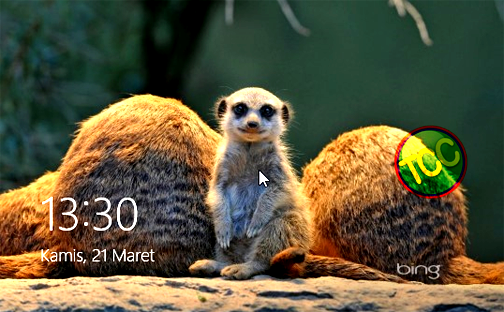 Non Aktif Lock Screen Windows 8