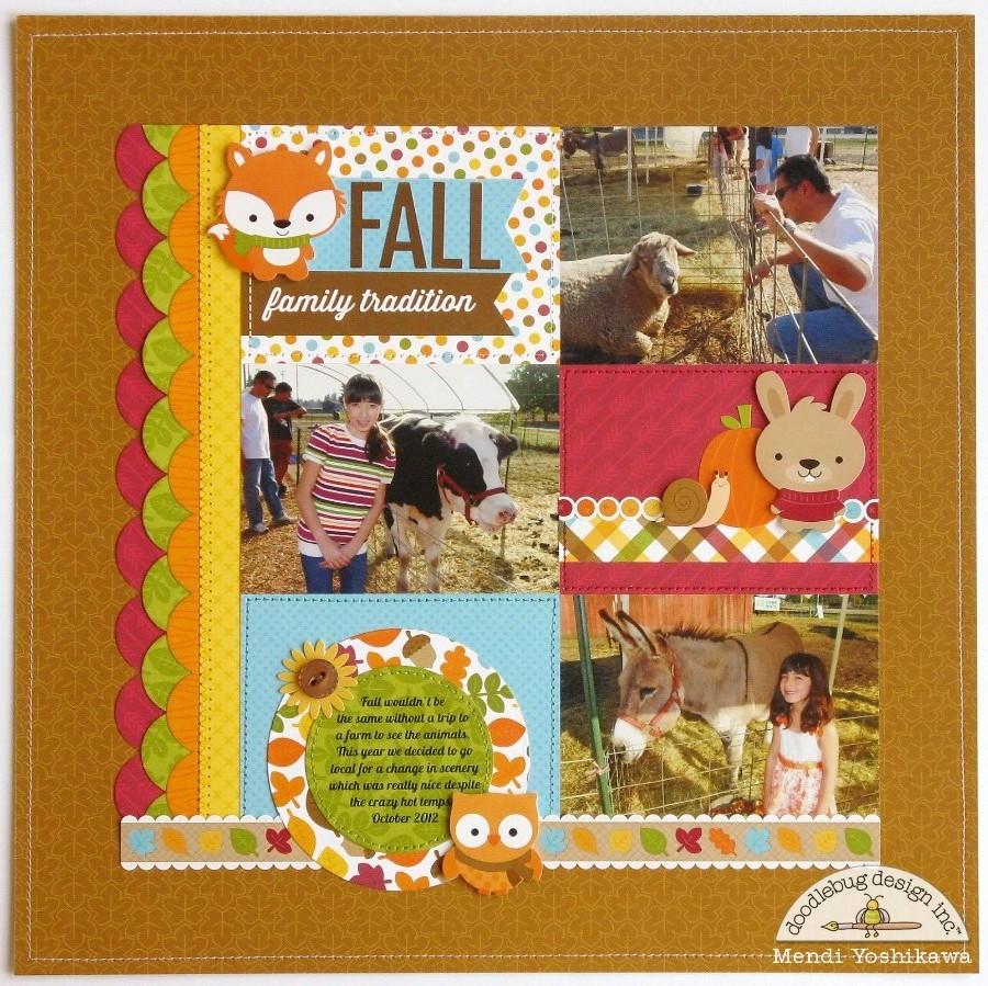 Scrapbook ideas without photos - Doodlebug Designs Scrapbook Baby Scrapbooking Pic Layouts 900x899