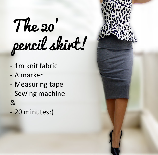 Knitting Skirt Tutorial : Wardrobe recycle knit pencil skirt tutorial