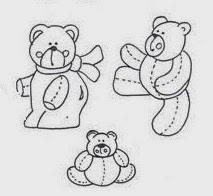 desenhos de varios ursinhos para pintar em tecido