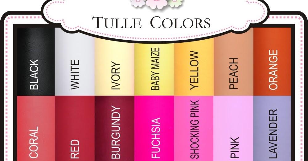 Tutu Gorgeous Girl Tulle Colors
