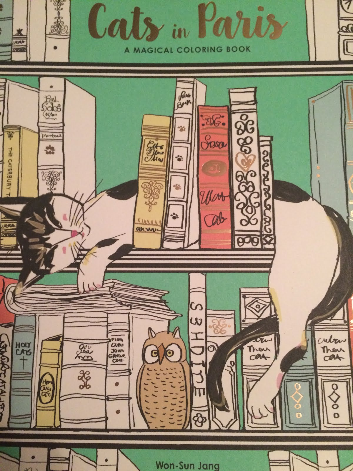 coloring book review cats in paris by won sun jang - Paris Coloring Book