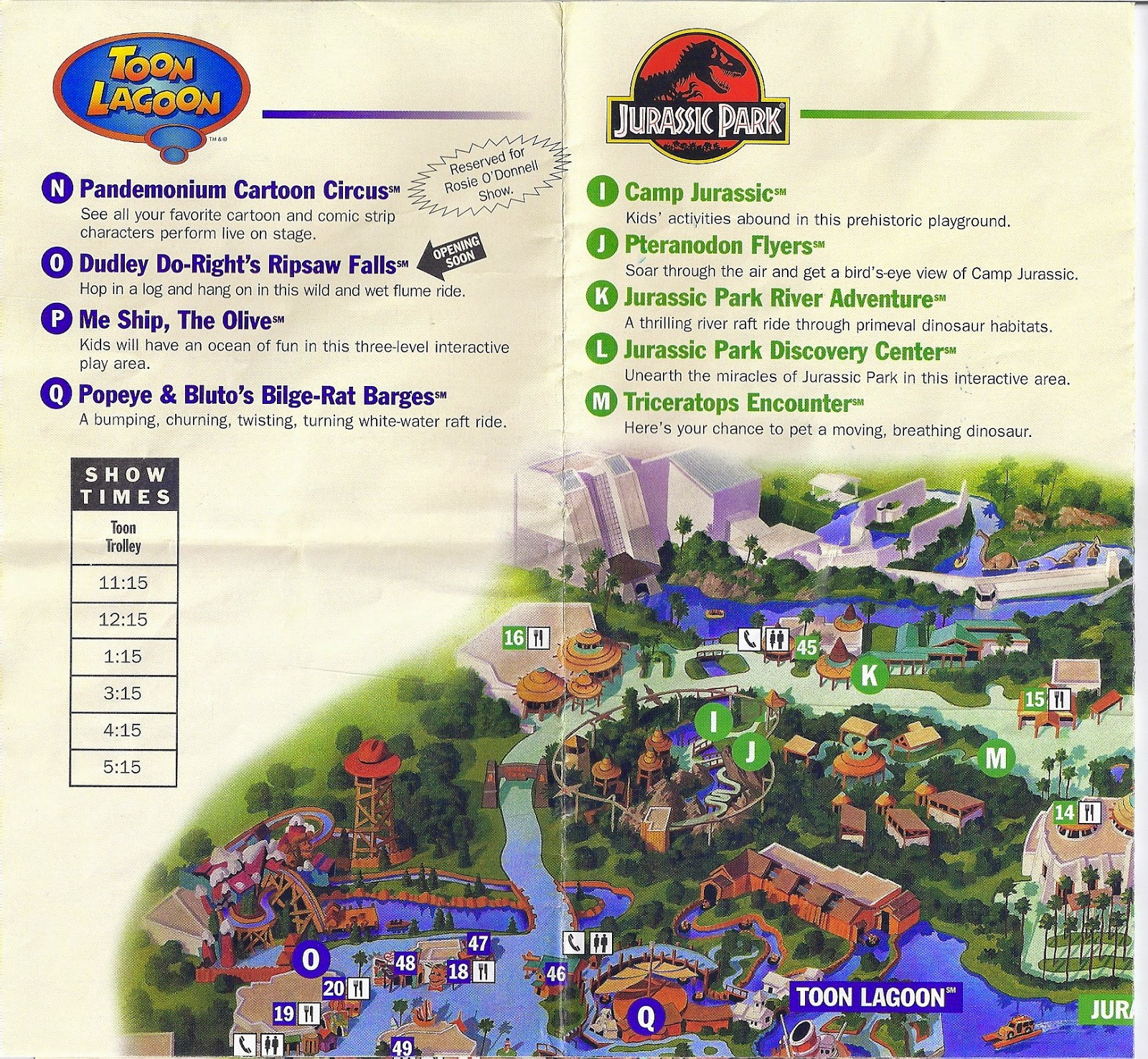 all around orlando happy th anniversary to islands of adventure  - the map scans below were from our trip to islands on may   clickeach for larger images