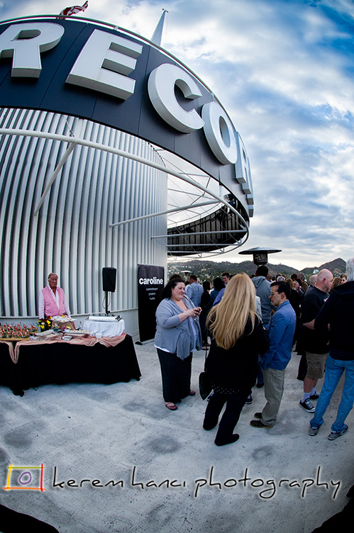 Caroline Music's NARM Party on top of Capitol Records Building