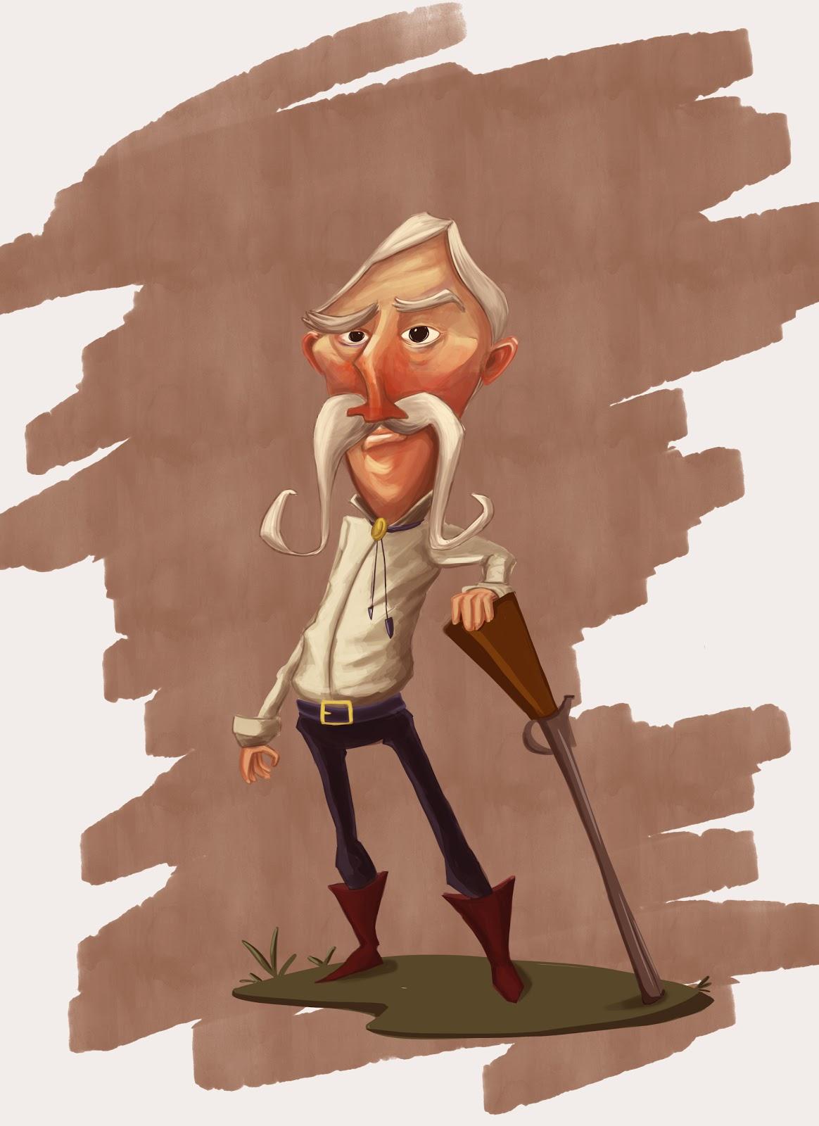 Character Design Old Man : Art of khan old man character design