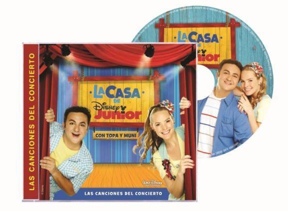 canciones del concierto de La casa de Disney Junior con Topa y Muni