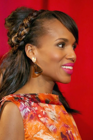 Kerry Washington Braided Updo